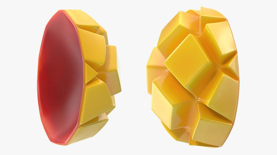 Fresh Mango Slice royalty-free 3d model - Preview no. 5