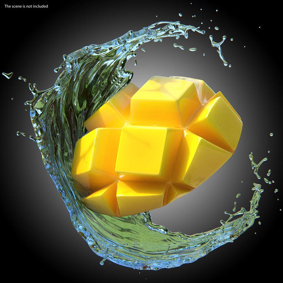 Fresh Mango Slice royalty-free 3d model - Preview no. 3