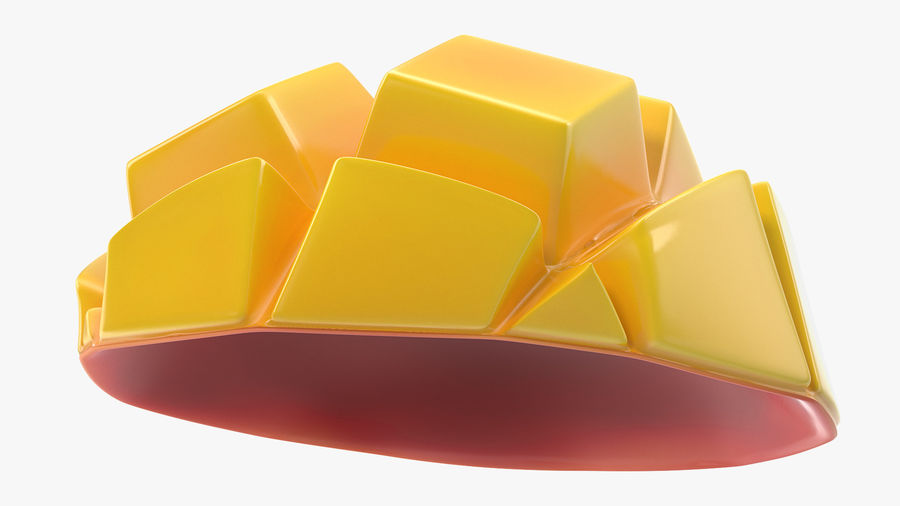 Fresh Mango Slice royalty-free 3d model - Preview no. 8