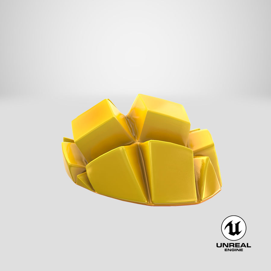 Fresh Mango Slice royalty-free 3d model - Preview no. 27