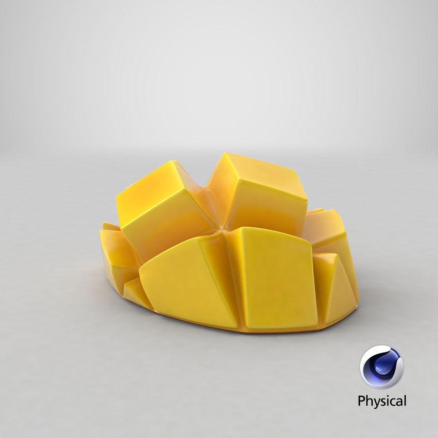 Fresh Mango Slice royalty-free 3d model - Preview no. 24