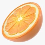Caricature de demi-fruits orange frais 3d model