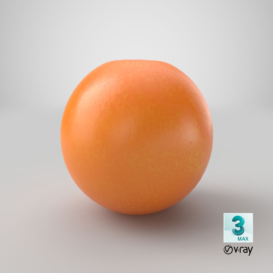 Whole Ripe Orange Fruit Cartoon royalty-free 3d model - Preview no. 27