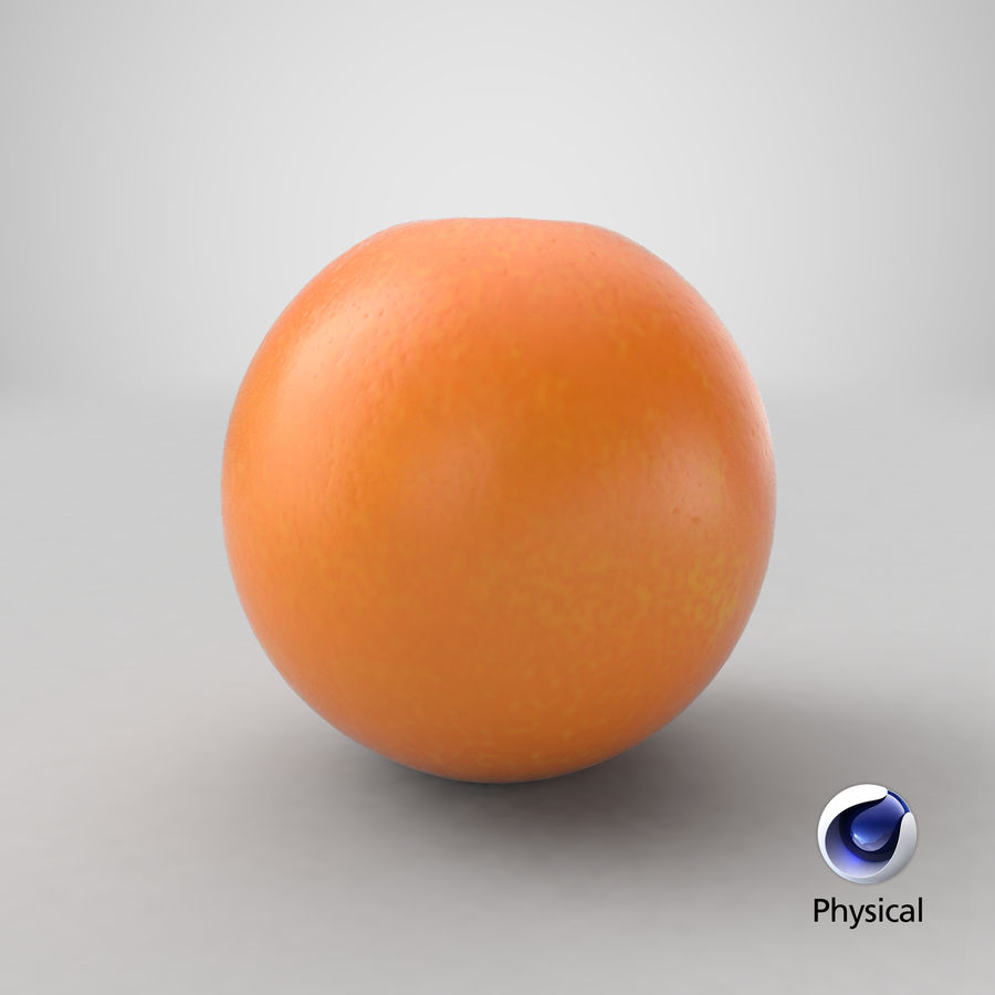 Whole Ripe Orange Fruit Cartoon royalty-free 3d model - Preview no. 21