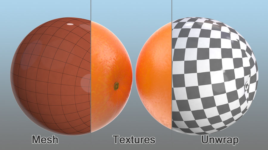 Whole Ripe Orange Fruit Cartoon royalty-free 3d model - Preview no. 8