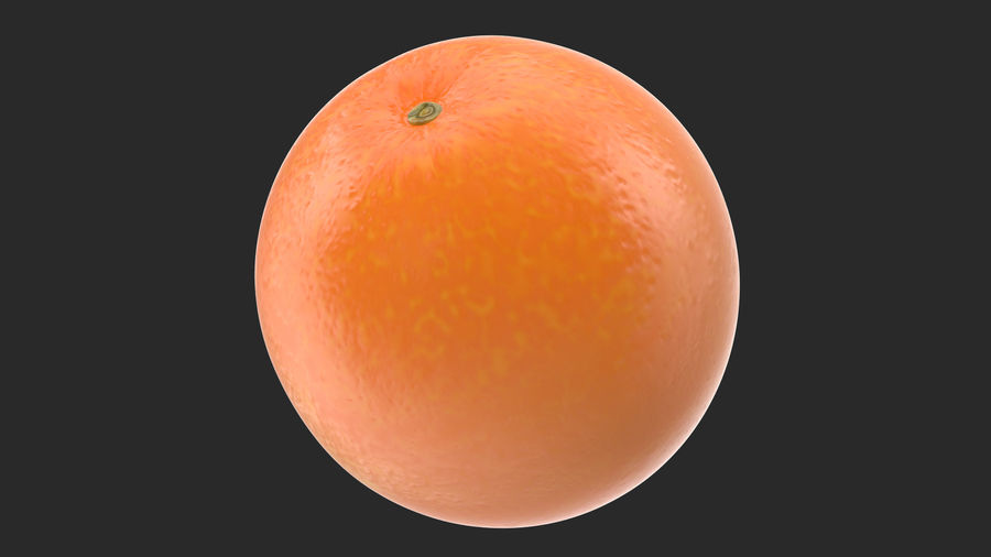 Whole Ripe Orange Fruit Cartoon royalty-free 3d model - Preview no. 2