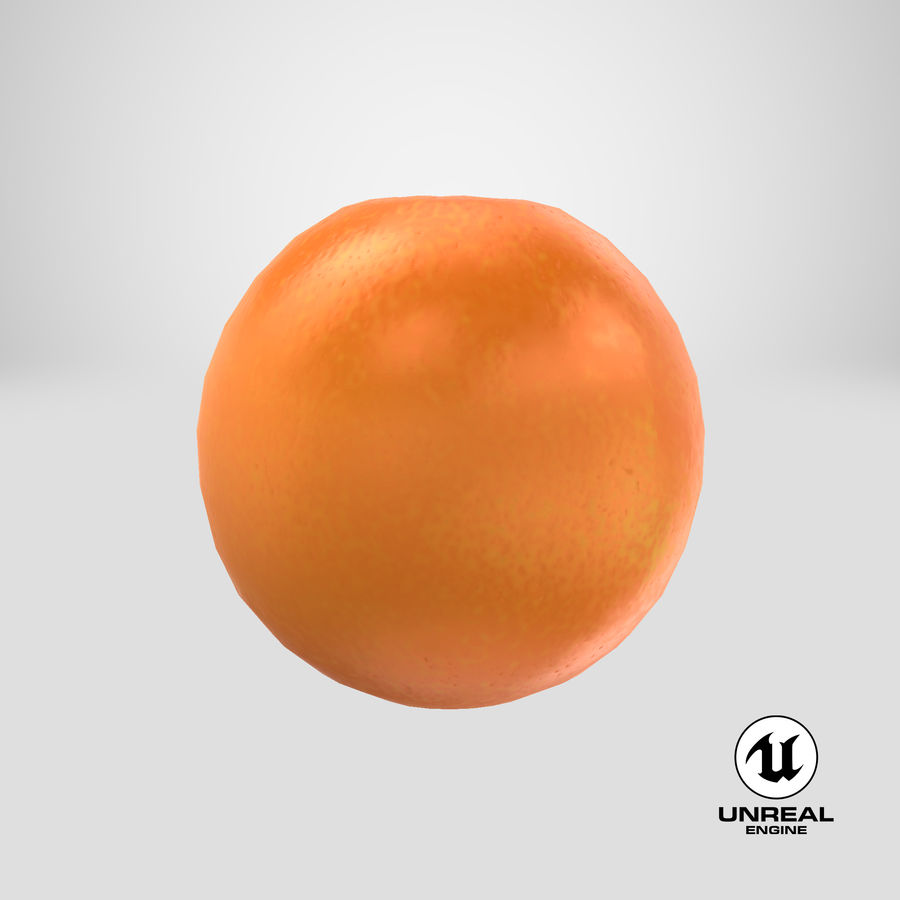 Whole Ripe Orange Fruit Cartoon royalty-free 3d model - Preview no. 24
