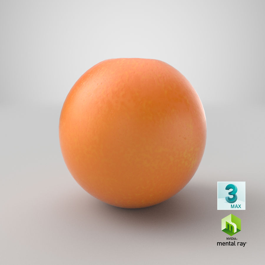 Whole Ripe Orange Fruit Cartoon royalty-free 3d model - Preview no. 26