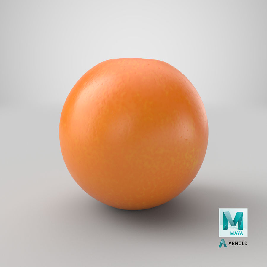 Whole Ripe Orange Fruit Cartoon royalty-free 3d model - Preview no. 28