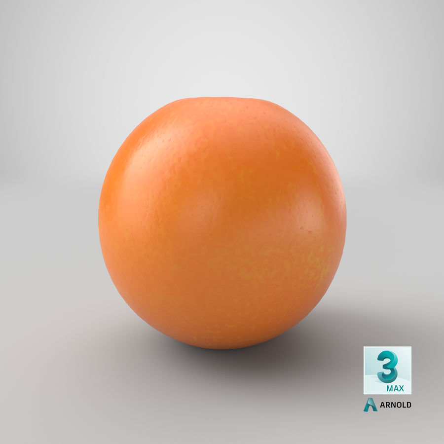 Whole Ripe Orange Fruit Cartoon royalty-free 3d model - Preview no. 25