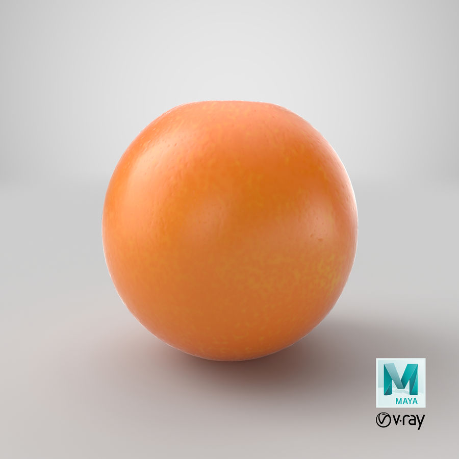 Whole Ripe Orange Fruit Cartoon royalty-free 3d model - Preview no. 30