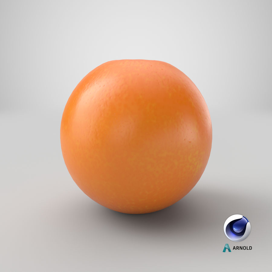 Whole Ripe Orange Fruit Cartoon royalty-free 3d model - Preview no. 22