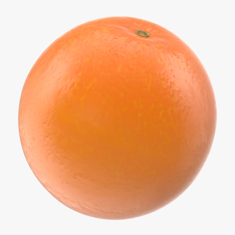 Whole Ripe Orange Fruit Cartoon royalty-free 3d model - Preview no. 1