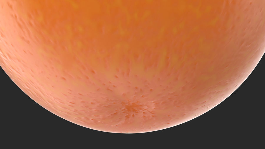 Whole Ripe Orange Fruit Cartoon royalty-free 3d model - Preview no. 7