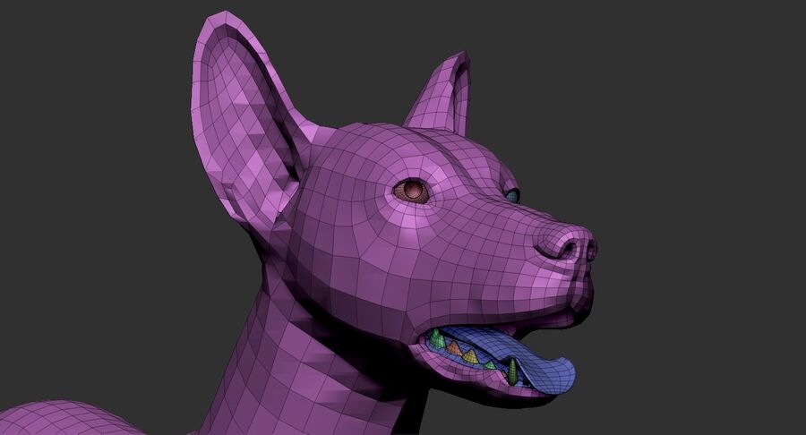 Meksikalı Tüysüz Köpek royalty-free 3d model - Preview no. 24