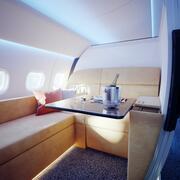 Flygplansinteriör VIP 3d model