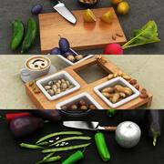 Food Scane 컬렉션 3d model