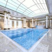 Luxury Indoor Swimming Pool 3d model
