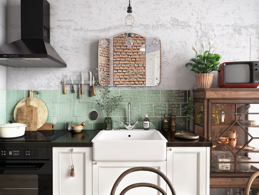 Une Cuisine (Kitchen) royalty-free 3d model - Preview no. 5