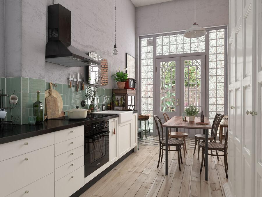 Une Cuisine (Kitchen) royalty-free 3d model - Preview no. 2
