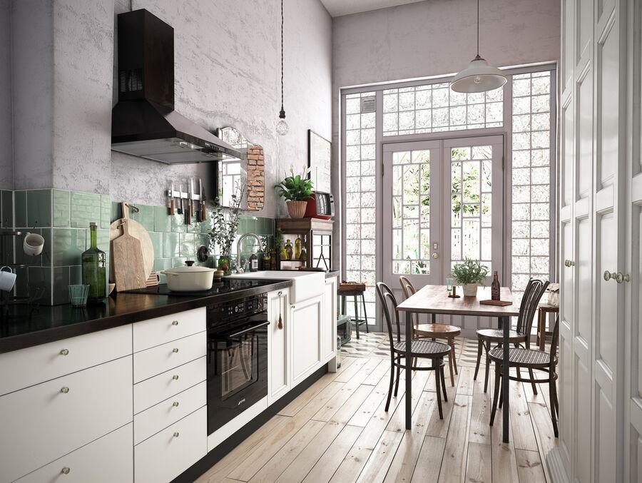 Une Cuisine (Kitchen) royalty-free 3d model - Preview no. 1