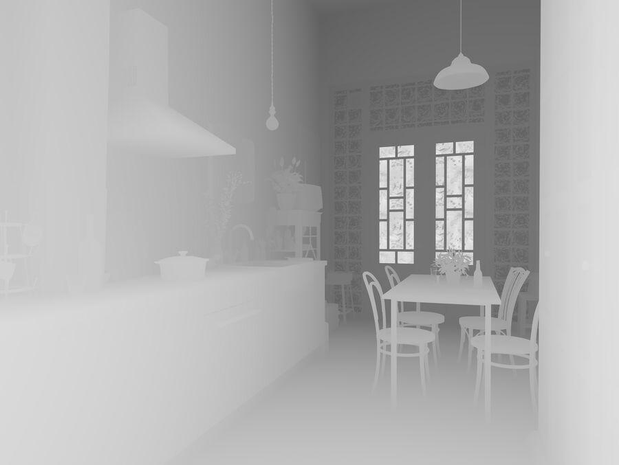 Une Cuisine (Kitchen) royalty-free 3d model - Preview no. 14