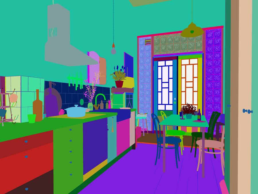 Une Cuisine (Kitchen) royalty-free 3d model - Preview no. 13