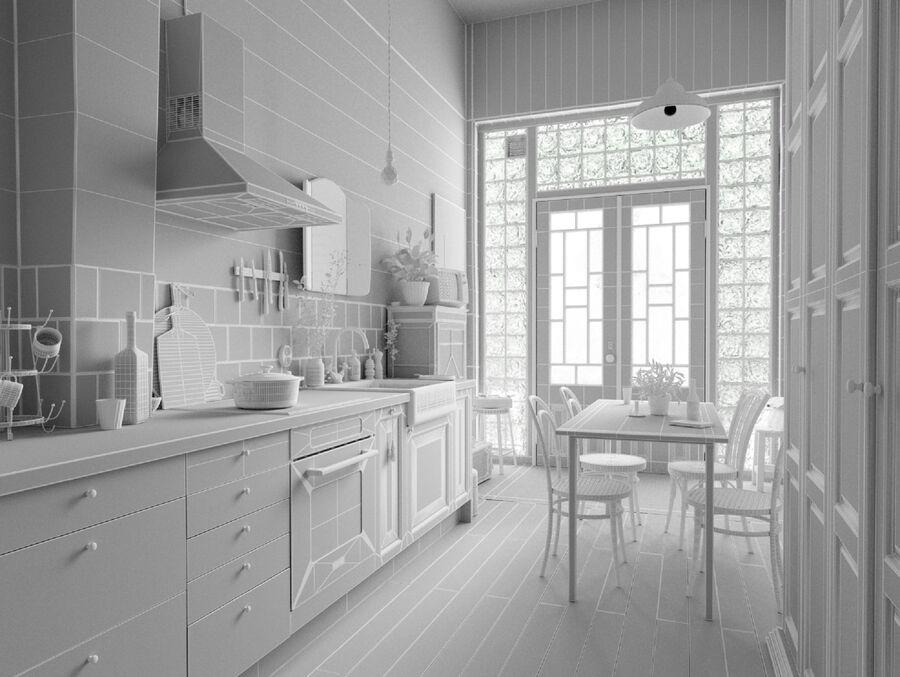 Une Cuisine (Kitchen) royalty-free 3d model - Preview no. 16