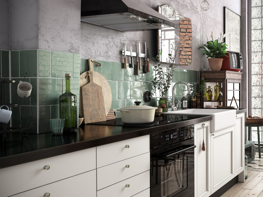 Une Cuisine (Kitchen) royalty-free 3d model - Preview no. 9
