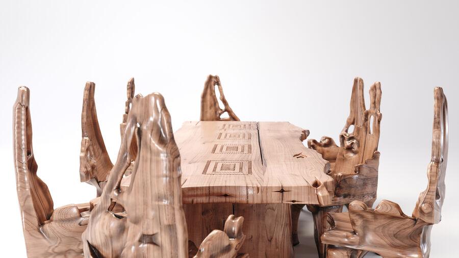 Drewniany Stół do Jadalni Bali royalty-free 3d model - Preview no. 8