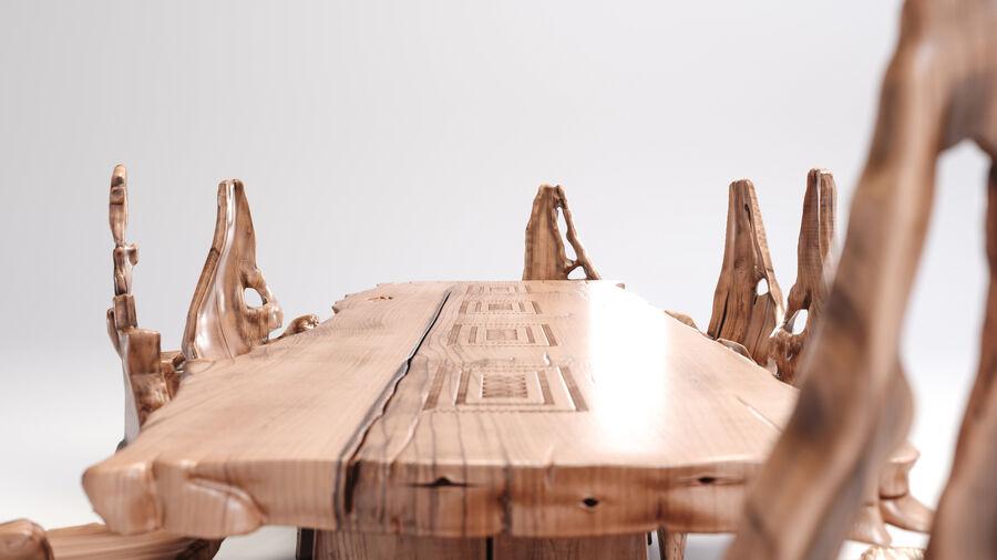 Drewniany Stół do Jadalni Bali royalty-free 3d model - Preview no. 3