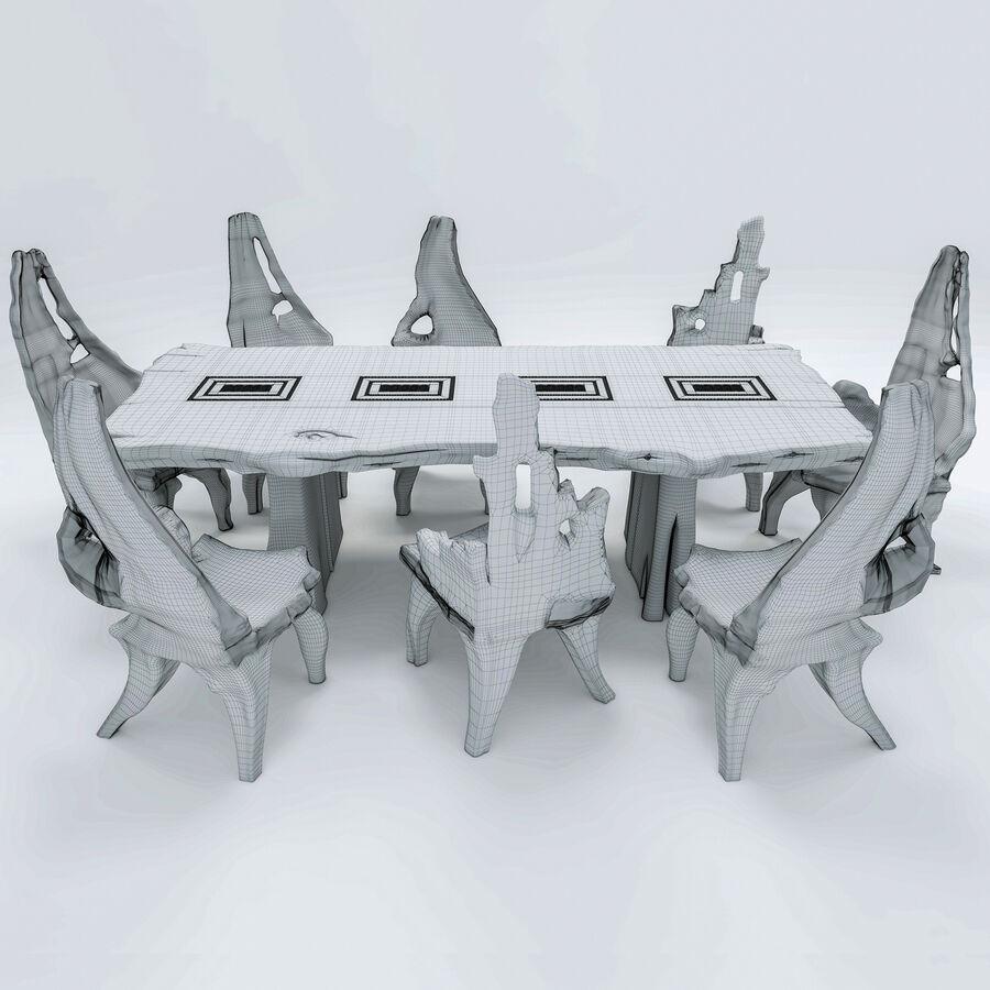 Drewniany Stół do Jadalni Bali royalty-free 3d model - Preview no. 20