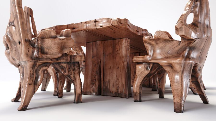 Drewniany Stół do Jadalni Bali royalty-free 3d model - Preview no. 7
