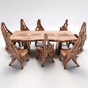 Drewniany Stół do Jadalni Bali 3d model