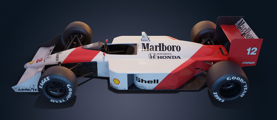 McLaren Mp 4/4 royalty-free 3d model - Preview no. 3
