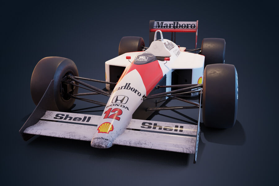 McLaren Mp 4/4 royalty-free 3d model - Preview no. 2