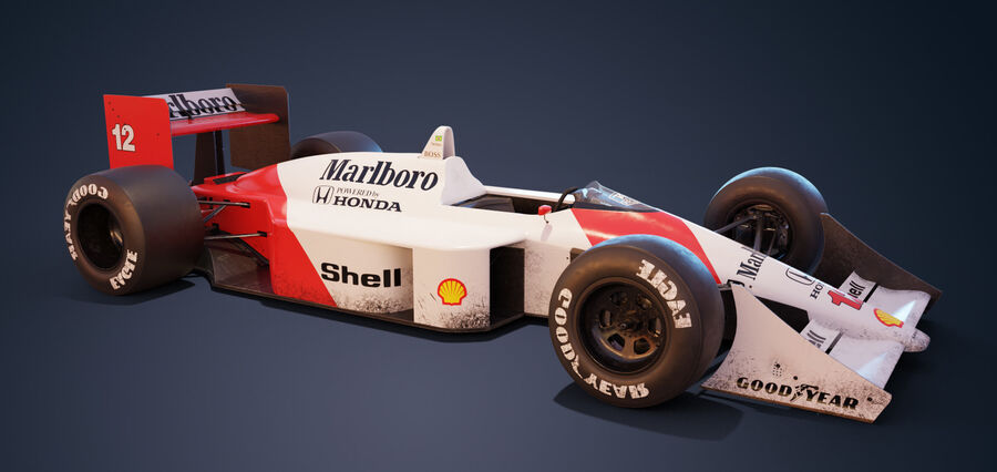 McLaren Mp 4/4 royalty-free 3d model - Preview no. 1