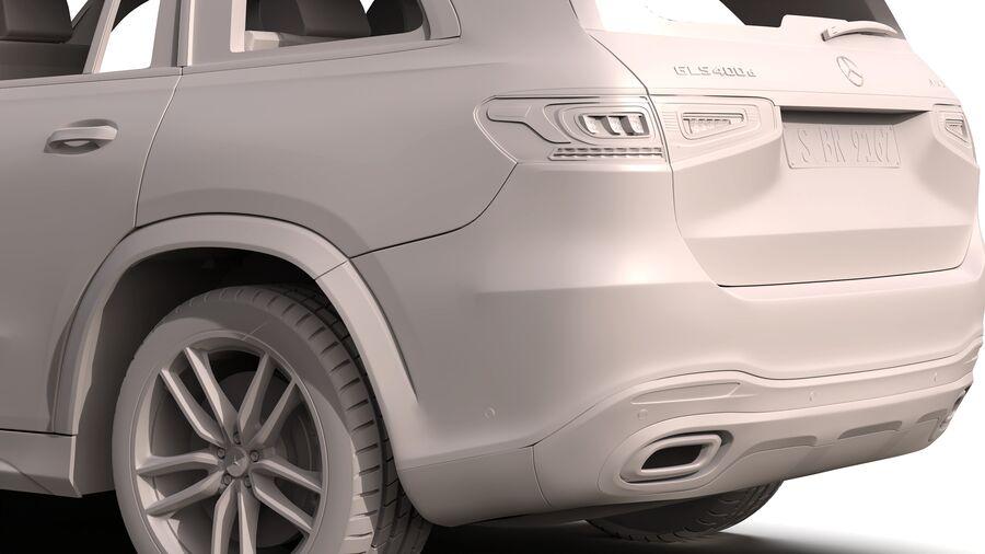 Mercedes Benz GLS Class 2020 royalty-free 3d model - Preview no. 14