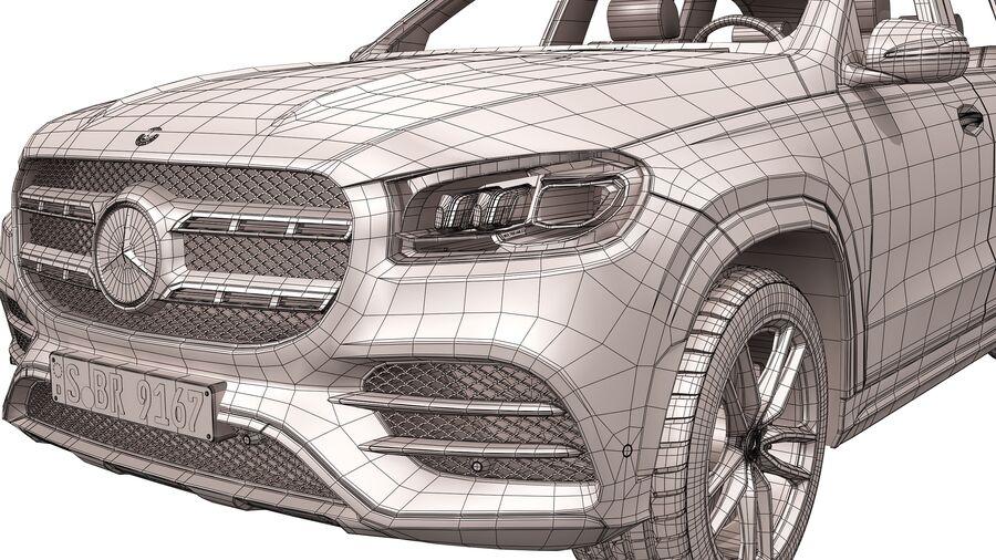 Mercedes Benz GLS Class 2020 royalty-free 3d model - Preview no. 18
