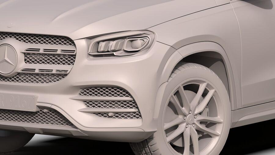 Mercedes Benz GLS Class 2020 royalty-free 3d model - Preview no. 13