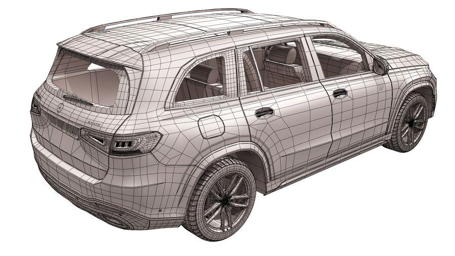 Mercedes Benz GLS Class 2020 royalty-free 3d model - Preview no. 17