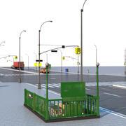 Городские улицы и стихии 3d model