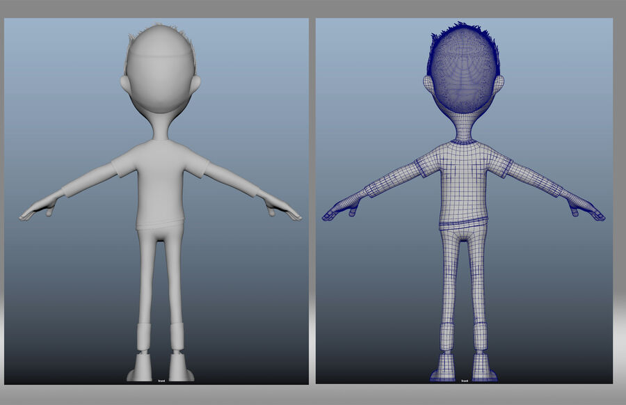 cartoon jongen kind kind royalty-free 3d model - Preview no. 4