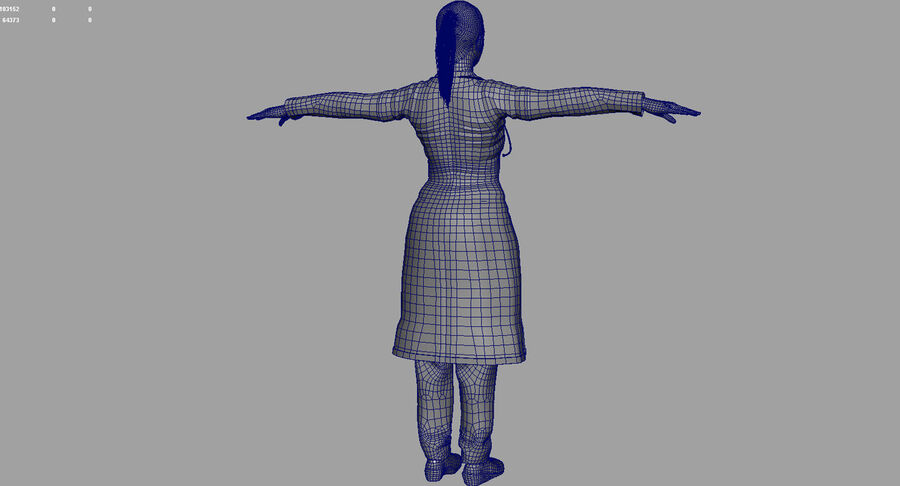 印度女孩医生3D模型 royalty-free 3d model - Preview no. 28