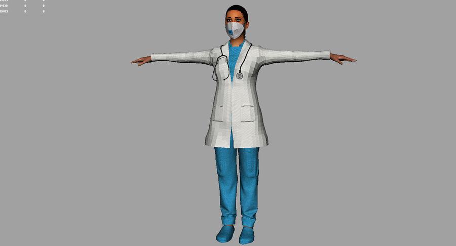 印度女孩医生3D模型 royalty-free 3d model - Preview no. 21