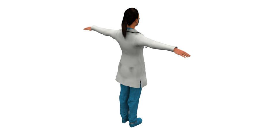 印度女孩医生3D模型 royalty-free 3d model - Preview no. 10