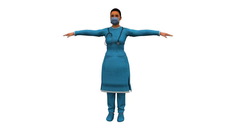 印度女孩医生3D模型 royalty-free 3d model - Preview no. 16