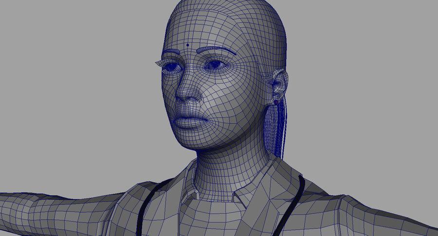印度女孩医生3D模型 royalty-free 3d model - Preview no. 25