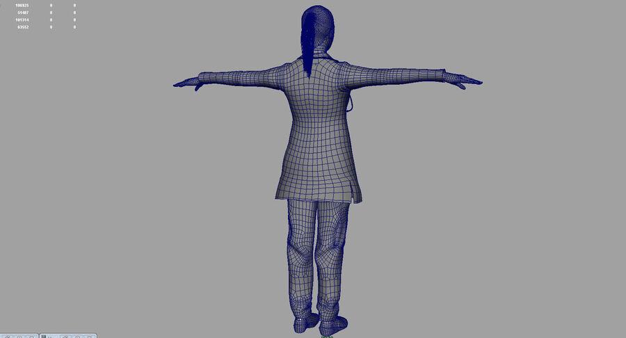 印度女孩医生3D模型 royalty-free 3d model - Preview no. 26