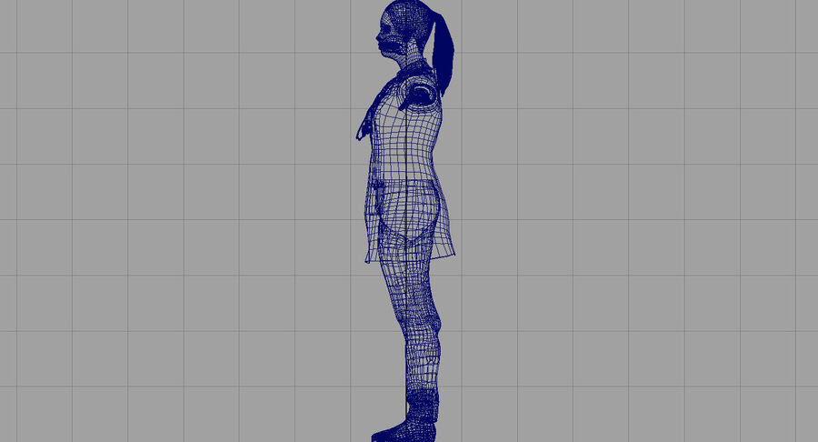 印度女孩医生3D模型 royalty-free 3d model - Preview no. 24